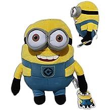 Bob Minion 30cm Muñeco Peluche Gru 2 mi villano favorito Pelicula Amarillo Gafas Super Soft Suave