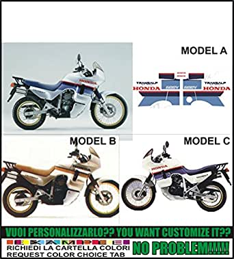 Kit adesivi decal stikers HONDA XL600V TRANSALP 1987 1988 (ability to customize the colors)