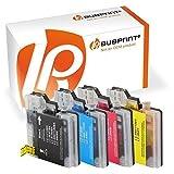 Bubprint 4 Druckerpatronen kompatibel für Brother LC-1100 LC-980 für DCP-145C DCP-195C DCP-375CW DCP-J715W MFC-490CW MFC-5890CN MFC-5490CN MFC-6490CW