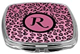 Rikki Knight Compact Mirror, Letter r Initial Light Pink Leopard Print Amazon