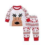 Beikoard_Babykleidung Kinder Baby Weihnachtskleidung Set Hirsch T Shirt Tops + Hosen Set Outfits Baby Kleidung Set