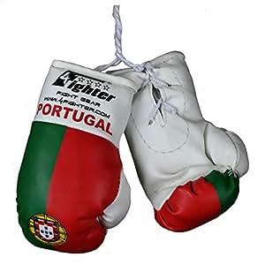 Gants de boxe Mini de 4Fighter Portugal avec drapeau national et lettrage