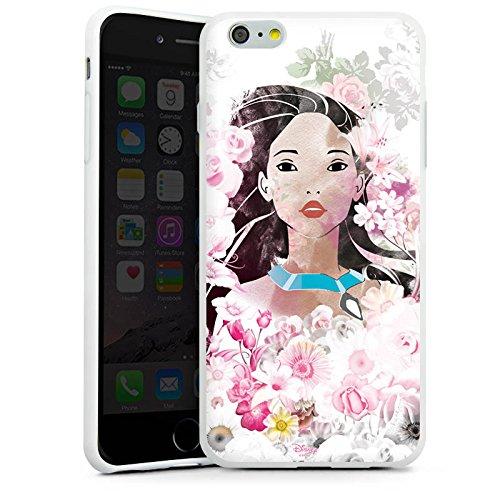 Apple iPhone X Silikon Hülle Case Schutzhülle Disney Pocahontas Geschenke Fanartikel Silikon Case weiß