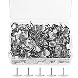 400 Stück Thumb Tacks, Borte 10 mm Reißnägel Runde Pins Thumbtacks Kopf Nagel Pin Doornail für Büro oder DIY (Silber)