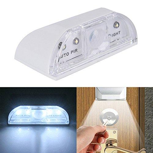 Miya Umwelt PIR Infrarot Erkennung Bewegungssensor Hause Tür Schlüsselloch Licht Lampe Nachtlichter Bewegung Lichter Umgebungslichtsensor Einfache Installation. (Sleeks-unterstützung Körper)
