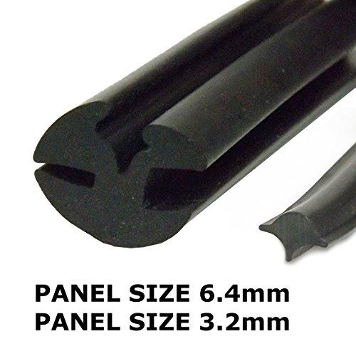 claytonrite Gummi Fenster Dichtung 6,4mm bis 3mm
