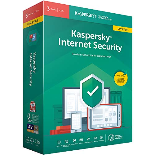 Kaspersky Internet Security 2019 Upgrade | 3 Geräte | 1 Jahr | Windows/Mac/Android | Box | Download