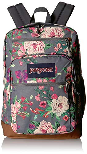 JANSPORT Cool Student Backpack Grey Bouquet