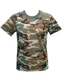 9a724af0 Mens Army Military Combat T-shirt Desert Woodland Urban US Tiger Stripe  Camo DPM Woodland