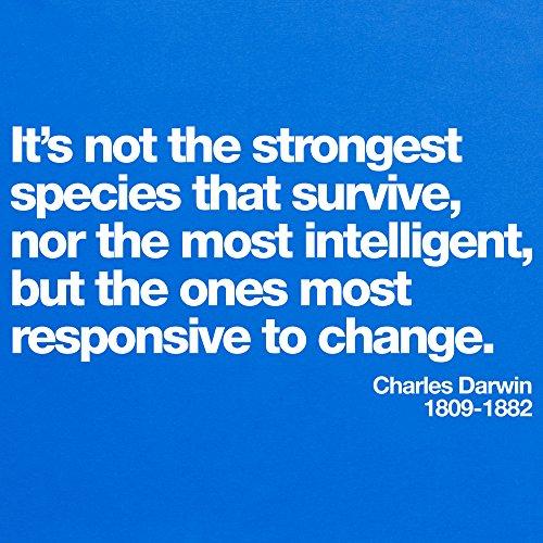 Darwin Responsive to Change T-Shirt, Herren Royalblau