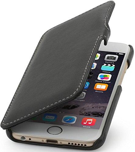 """StilGut Book Type Case mit Clip, Hülle Leder-Tasche für iPhone 6s. Seitlich klappbares Flip-Case aus Echtleder für das Original iPhone 6s (4,7""""), Schwarz Nappa Schwarz Nappa"""