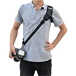 Camera Neck Strap,Rapid Fire SLR Camera Neck Belt Sling,Quick Release and Safety Tether