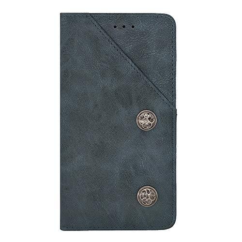 ZYQ Blau Retro Flip Echt Leder Tasche TPU Silikon Gel Schutz Hülle Für Bluboo S1 Brieftasche Case Cover Etui Klapphülle Handytasche