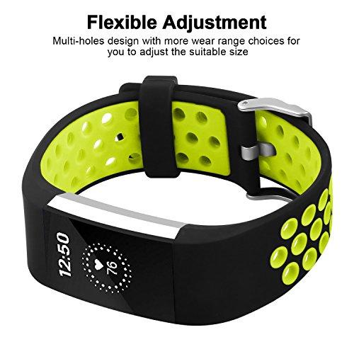 Ersatz Fitbit Charge 2 Armbänd, Classic Wechsel Sport Armband für Fitbit Charge 2 Armbänder (Kein Tracker) -