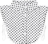 styleBREAKER Damen Blusenkragen Einsatz mit Punkte Muster und Knopfleiste, Kragen für Blusen und Pullover, Rockabilly Style 08020005, Farbe:Weiß-Schwarz