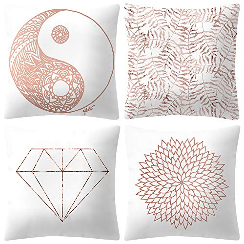 Mitlfuny Black Friay DE Cyber Monday DE,Rose Gold Pink Cushion Cover Square Pillowcase Home ()