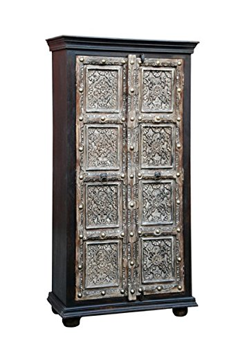Orientalischer kleiner Schrank Kleiderschrank Cansin 180cm hoch | Marokkanischer Vintage...