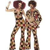 SXXS Uomini e Donne Anni '70 retrò Ruolo della Regina Palla da Discoteca Costume Giocando a Divisa Gioco Costume di Halloween con Un Regalo Speciale, Unique Original Ring FXXK Me