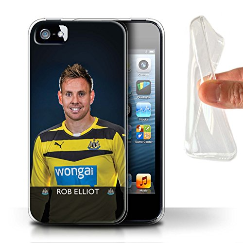 Officiel Newcastle United FC Coque / Etui Gel TPU pour Apple iPhone SE / De Jong Design / NUFC Joueur Football 15/16 Collection Elliot