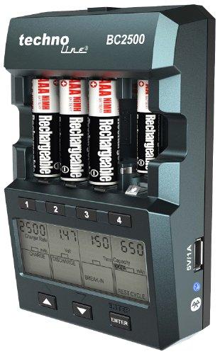 Technoline BC 2500 Akku Ladegerät für 1-4x AA Mignon/AAA Micro-Akku