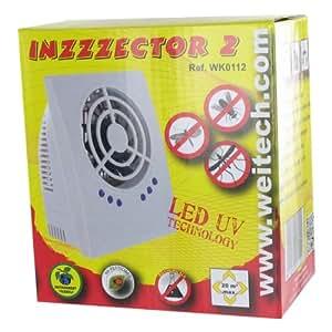 R pulsif lectronique avec led anti moustiques mouches papillons de nuit inzzzector 2 amazon - Repulsif mouche exterieur ...
