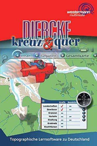 Diercke kreuz & quer, 1 CD-ROM Topographische Lernsoftware zu Deutschland. Für Windows 95/98/2000/NT/ME/XP oder MacOS Version 9.0. 3.-6. Schuljahr. Einzellizenz. 1:750.000
