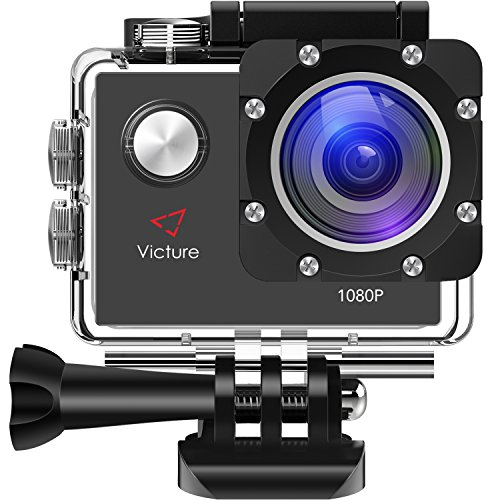 Galleria fotografica Victure Action Cam Full HD 1080P 12MP Impermeabile Sport Action Camera 1050mAh Batterie 170°Grandangolare 20+ Kit Accessori