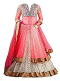 SKY WORLD Girl's Net Embroidered Lehenga Choli For Parties and Wedding Traditional Wear (8-14 Yrs) (World_540)