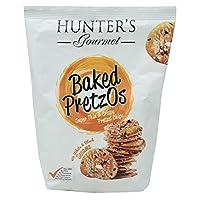 Hunter Foods Gourmet Baked Pretzel Chips with Black and White Sesame Seeds - 180 gm
