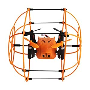 Lacaca Helic Max Sky Walker 2.4ghz 4CH RC Quadcopter 3D Flip Scalate Roller (Arancia)