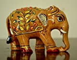 Collectible India Wooden Elephant Statue...