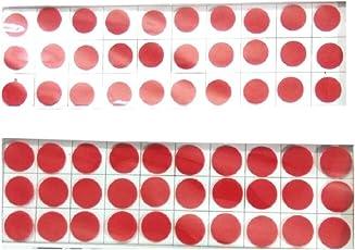 My.Shop Women's Big Red Round Velvet Sticker Bindi