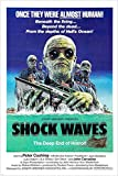 1977 deep sea thriller SHOCK WAVES movie poster HORROR ZOMBIES 24X36 (reproduction, not an original)