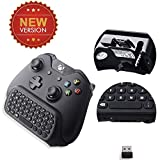Megadream [Upgrade Version] 2.4 Ghz Mini Wireless Qwerty Keyboard Gaming Joypad Chatpad Keypad Gamepad Text Messenger Compatible W/ Audio Device And Latest Edition Controller For Microsoft Xbox One