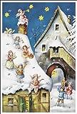 Weihnachtskarte Weihnachten Heiliger Abend X-Mas Christkind Karte Adventskalender mit 24 Türchen mit Umschlag (weiß)