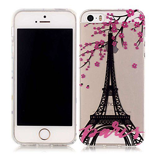 iPhone 5S Coque, LANDEE TPU silicone Coque pour iPhone 5S / iPhone 5 / iPhone SE Housse Etui anti chocs Back Cover Bumper Case (5S-T-0201) 5S-T-0210