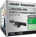 Rameder Komplettsatz, Anhängebock mit 2-Loch-Flanschkugel + 13pol Elektrik für Mercedes-Benz Sprinter 3-t Pritsche/Fahrgestell (143016-03505-2)