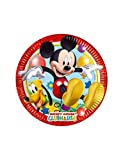 Perona - Pack de 8 platos 20 cm, Mickey Mouse ( 50861)
