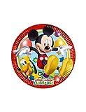 Procos 81840 - Piatti Carta Mickey Mouse Club House (Ø20 cm), 8 Pezzi, Multicolore