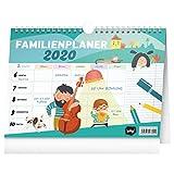 Familienplaner 2020 - Familienkalender 2020 Planer für bis zu 5 Personen - Wochenplaner Wandkalender und Stehkalender für Familie (Türkis)