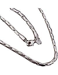 nykkola Nueva Plata de ley 925de moda Plating Cadena de Serpiente mujer hombre collar