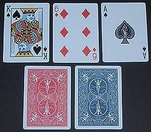 Shatchi BICYCLE-STANDARD-2-BLUE-2-RED - Juego de Cartas (4 Barajas de Ciclismo, 2 Unidades), Color Rojo y Azul