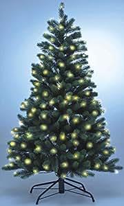 Lönartz® hochwertiger künstlicher Weihnachtsbaum PE-Spritzguss mit Beleuchtung (166 LEDs, 7,5W), Höhe: 150cm / Ø100cm (PE-BM150)