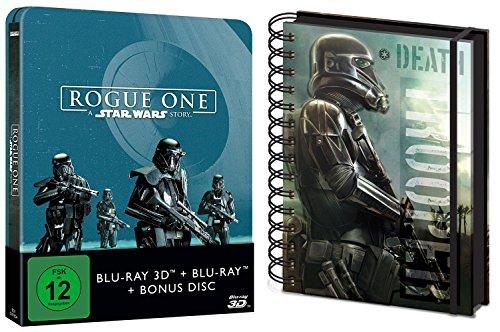 Rogue One - A Star Wars Story (2D+3D) Steelbook Blu-Ray + Notizbuch Geschenk Set LIMITED EDITION