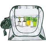 Plegable Pop Up efecto invernadero al aire libre Mini FlowerHouse flor triángulo de refugio de la maceta para planta, para interior exterior