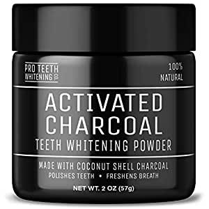 Activated Charcoal Natural Teeth Whitening Powder Peppermint Flavour by Pro Teeth Whitening Co®   Manufactured in the UK