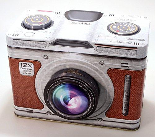 Blechdose Kamera Deko Box 20 cm x 15 cm Metall Dose Fotoapparat Box-kamera