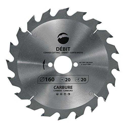 Leman 965.210.3020 Lame de scie circulaire en Carbure ø 210 x 30 mm 20 dents pour bois