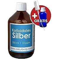 Preisvergleich für Kolloidales Silber 10ppm Set mit 1er Pack (1 x 500 ml) Glasflasche und gratis leere Spray Flasche 1er Pack (1...