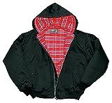 Harrington Jacke Hooded Kapuzenjacke verschiedene Farben und Größen Frühlingsjacke Herbstjacke L,Schwarz